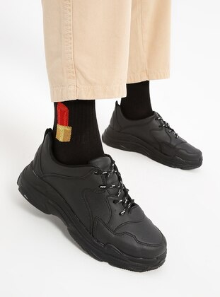 Red - Black - Cotton - Socks