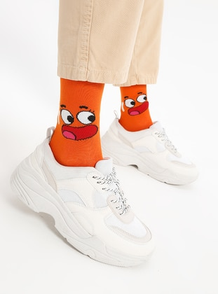 Orange - Cotton - Socks