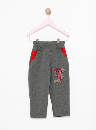 Cotton - Anthracite - Girls` Tracksuit
