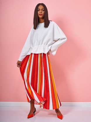 Multi - Stripe - Fully Lined - Skirt