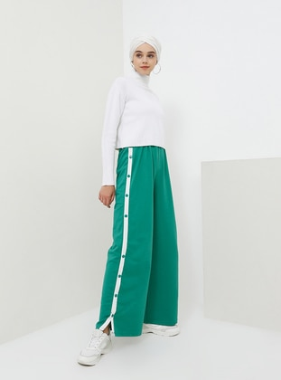 Green - Cotton - Tracksuit Bottom - Benin