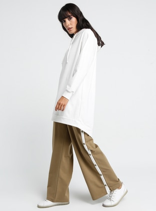 Khaki - Cotton - Tracksuit Bottom