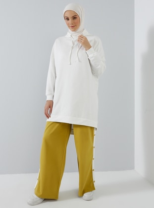 Mustard - Yellow - Cotton - Tracksuit Bottom