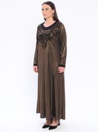 - Unlined - Crew neck - Plus Size Dress