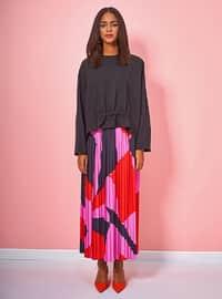 Multi - Geometric - Fully Lined - Skirt