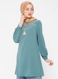 Green Almond - Crew neck - Tunic