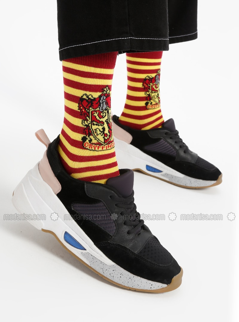 Red - Yellow - Cotton - Socks