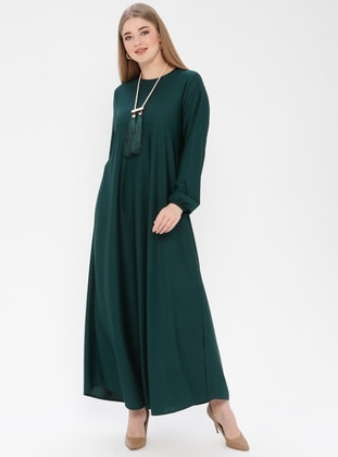 Emerald - Unlined - Crew neck - Plus Size Dress - ECESUN