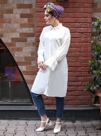 White - Point Collar - Tunic