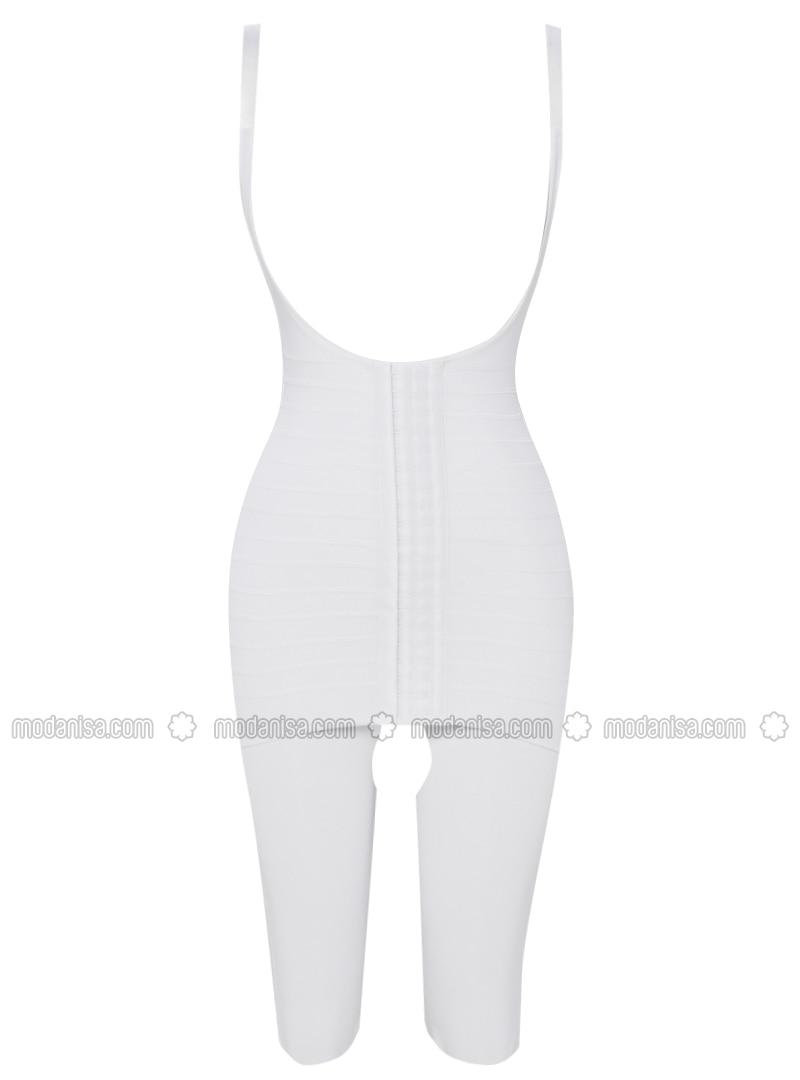 Putih Kaos Dalam Korset Celana Legging