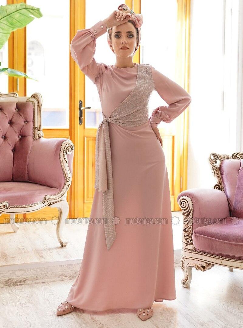 3ee5dfe278af2 Anvelop Elbise - Pudra