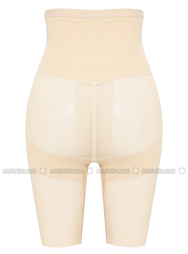 Coklat Tan Kaos Dalam Korset Celana Legging