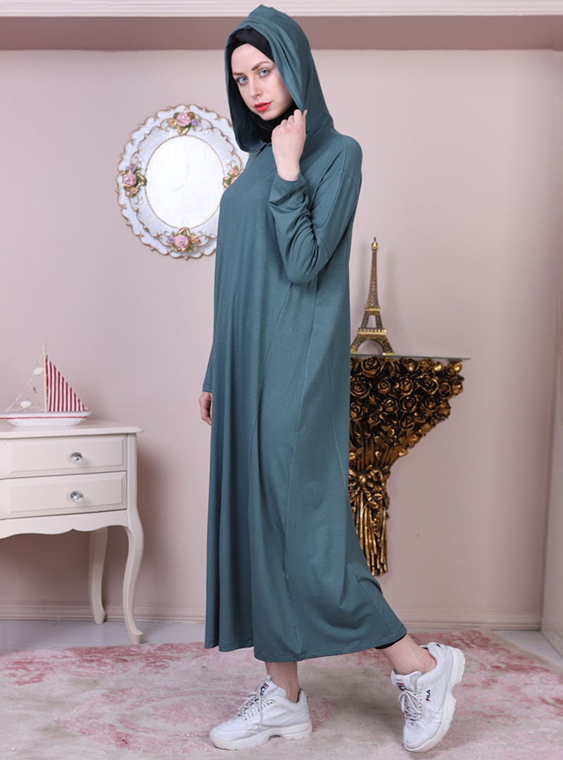 Tesettür Elbise Night Blue Collection Renkli Kadın 54