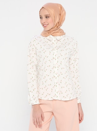 Powder - Multi - Point Collar - Blouses