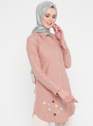Rose - Button Collar - Cotton - Tunic