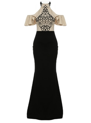 Mink - Unlined - Crew neck - Muslim Evening Dress