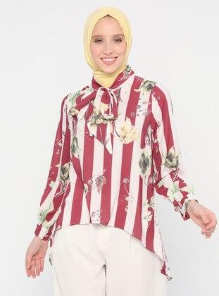 Cherry - Multi - Polo neck - Blouses
