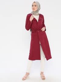 Plum - Unlined - Shawl Collar - Topcoat