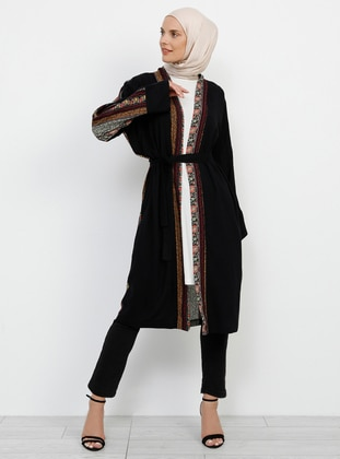 Black - Multi - Unlined - Viscose - Topcoat