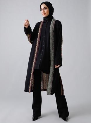 Black - Multi - Unlined - Viscose - Topcoat