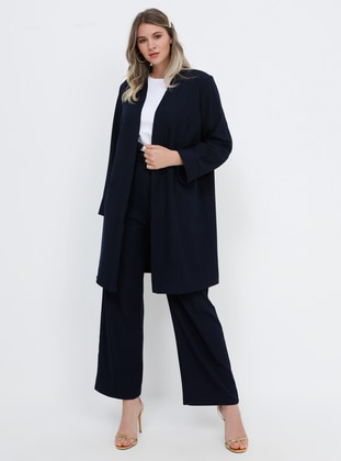 Navy Blue - Unlined - Plus Size Suit