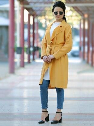 Mustard - Unlined - Shawl Collar - Jacket