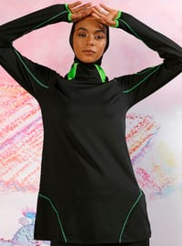 Black -  - Multi - Fully Covered Swimsuits