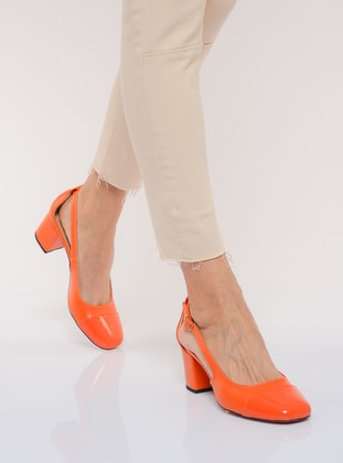 Orange - High Heel - Shoes