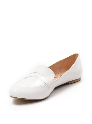 White - Ecru - Flat - Flat Shoes