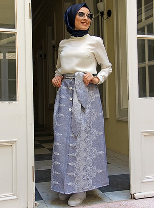 Blue - Unlined - Skirt