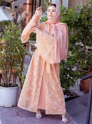 Orange - Unlined - Shawl Collar - Topcoat