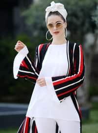 Red - Stripe - Unlined - Jacket