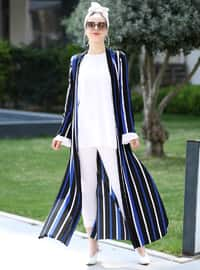 Saxe - Stripe - Unlined - Jacket
