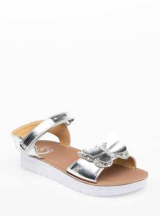 Gray - Girls` Sandals