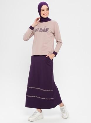 Purple - Unlined - Cotton - Suit