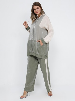 White - Ecru - Khaki - Unlined - Plus Size Suit