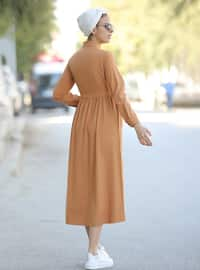 Terra Cotta - Point Collar - Unlined - Dress