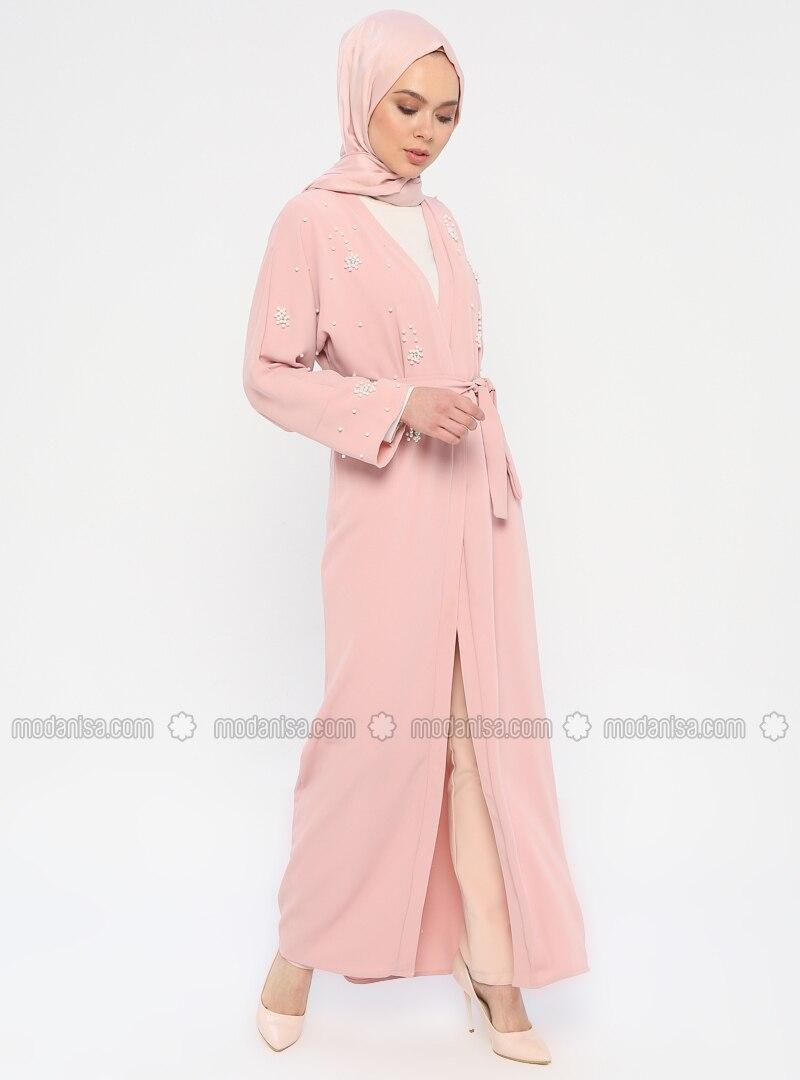 Powder - Unlined - Shawl Collar - Abaya