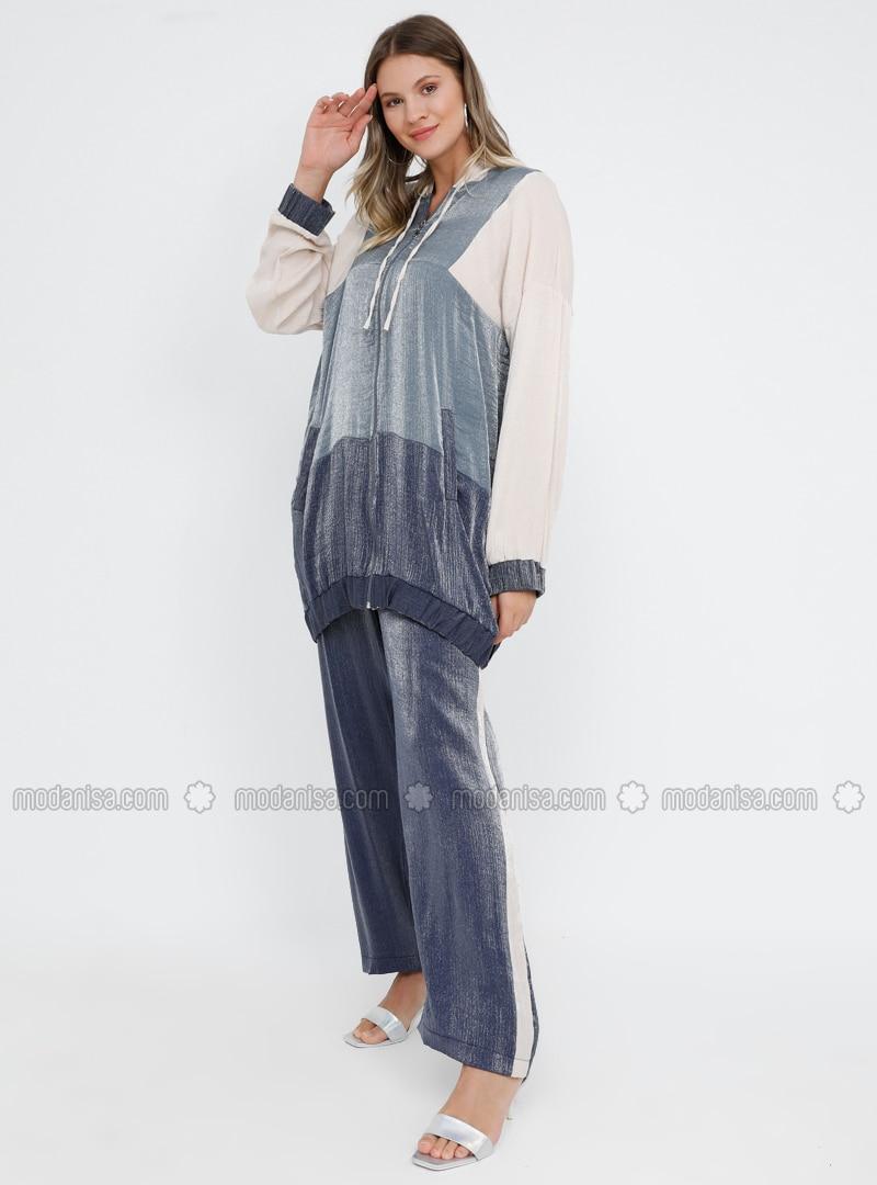 Blue - Navy Blue - Unlined - Plus Size Suit
