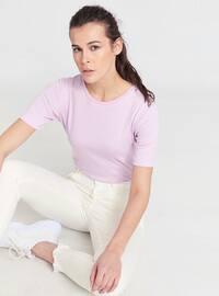 Lilac - Crew neck - T-Shirt