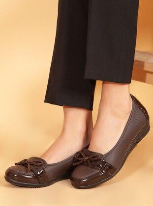 Brown - Flat - Shoes - Ayakkabı Havuzu
