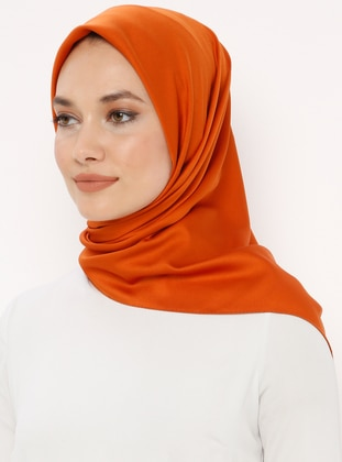 Orange - Plain - Scarf - Renkli Butik