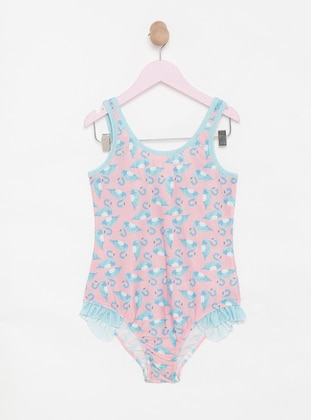 Multi - Pink - Multi - Unlined - Half Covered Switsuits