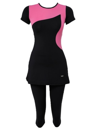 Black - Pink - Fuchsia - Fully Lined - Half Covered Switsuits