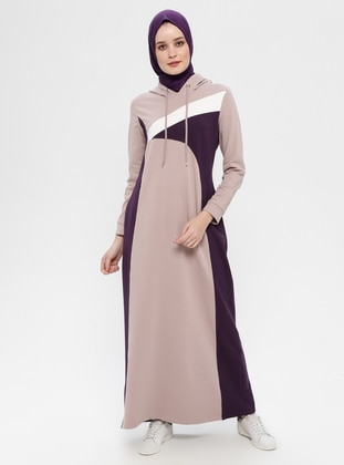 Lilac - Multi - Unlined - Cotton - Dress