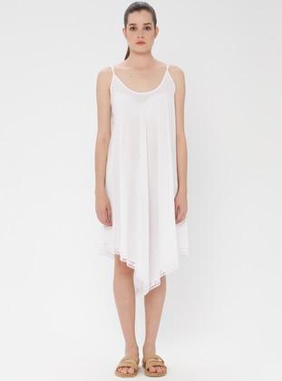 Cotton - White - Ecru - Pareo