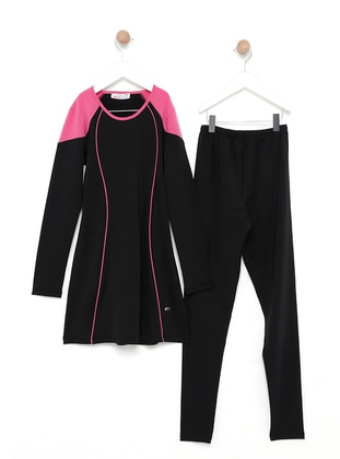 Black - Pink - Fully Lined - Fully Covered Swimsuits