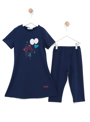 Navy Blue - Multi - Fully Lined - Half Covered Switsuits