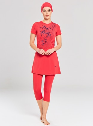 Coral - Multi - Half Covered Switsuits