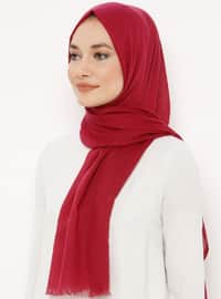 Cherry - Plain - Shawl - Renkli Butik